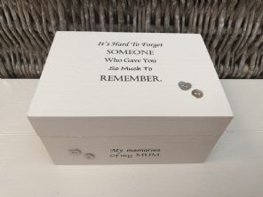 Personalised In Memory Of Box Loved One ~ MUM ~ MAM ~ any Name Bereavement Loss - 232737783261